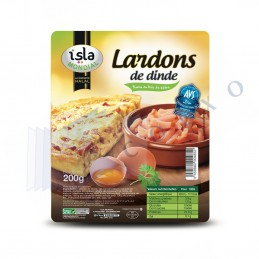 LARDONS DINDE FUME - Unité 200g - ISM